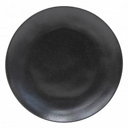 Costa Nova 6 assiettes plate en grès fin Riviera sable noir 27cm