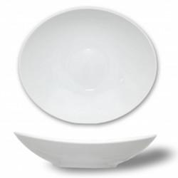 Thun 6 Assiettes creuses ovales en porcelaine fine Loos 23.5cm