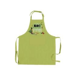 Tablier Bio Attitude vert kiwi - T&B Maison