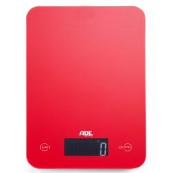 Ade Balance de Cuisine Digitale Slim rouge - ADE