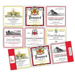 Lot de 6 sous-verres Bourgogne - T & B maison