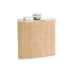 Flasque inox 180ml gainée hévéa