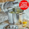 Marmite 24cm 8L Silver + panier à pâtes GRATUIT - Demeyere