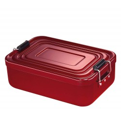 Lunch Box aluminium anodisé rouge - Küchenprofi