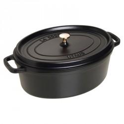 Cocotte ovale Ø31cm noire - Staub