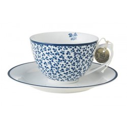 Set de 4 tasses et soucoupes Blue floris Jackie Bay