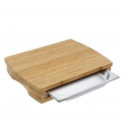Planche à découper en bambou avec tiroir - 46x35x8cm - Zassenhaus