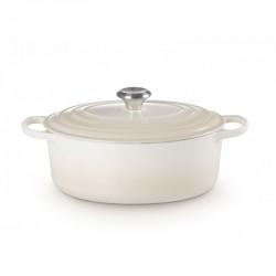 Cocotte ovale Ø31cm meringue - Le Creuset