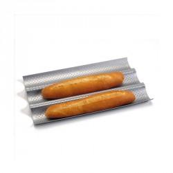 Moule 3 baguettes revêtu 38 cm Silver Top - Patisse