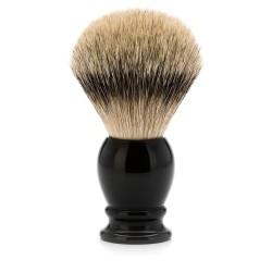 Blaireau classic résine noire pur argenté - Mülhe