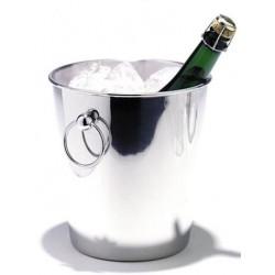 Seau à champagne acier inox 18/10 - Léopold