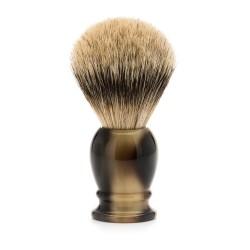 Blaireau classic résine corne brune pur argenté - Mülhe