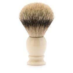 Blaireau classic résine ivoire pur argenté diamètre 25mm  - Mülhe