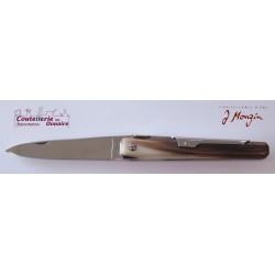 Couteau de poche modèle facette 10cm en corne blonde par J. Mongin