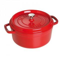 Cocotte en fonte ronde rouge cerise  - Staub