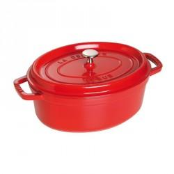 Cocotte en fonte ovale rouge cerise  - Staub