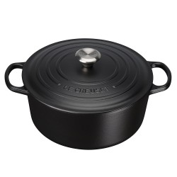 Cocotte en fonte ronde noire  - Le Creuset
